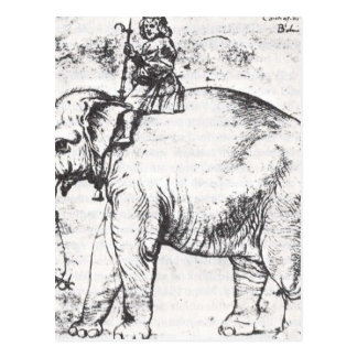 Hanno, The Popes Leo X Elephant by Raphael Postcard