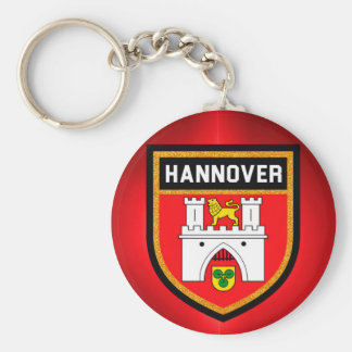 Hannover Flag Basic Round Button Key Ring