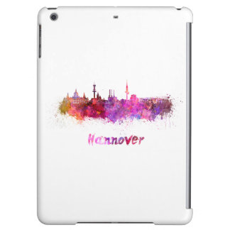 Hannover skyline in watercolor