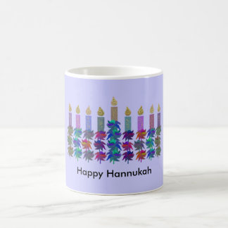 Hannukah Flower Menorah Coffee Mug