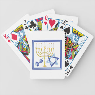 Hannukah Symbols Bicycle Playing Cards