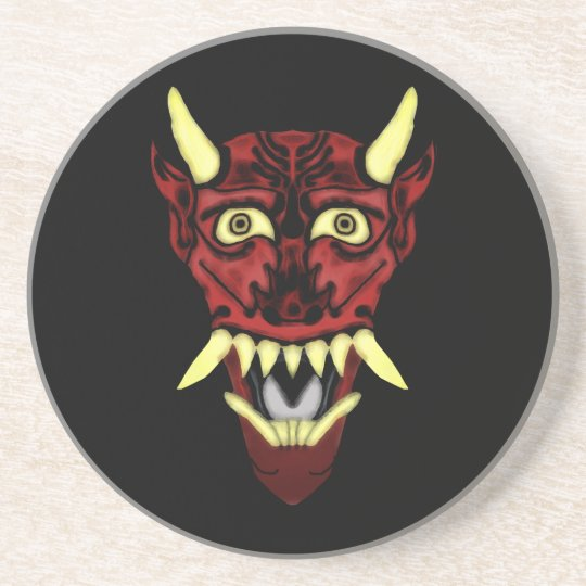 hannya demon mask coaster