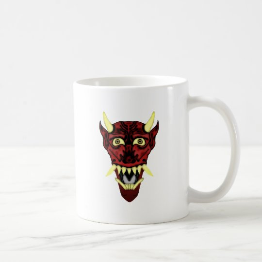 hannya demon mask coffee mug
