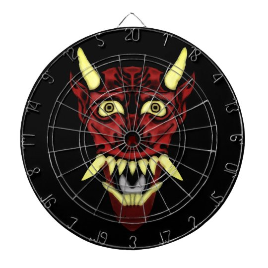 hannya demon mask dartboard