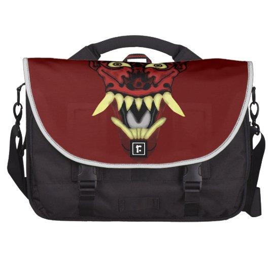 hannya demon mask laptop commuter bag