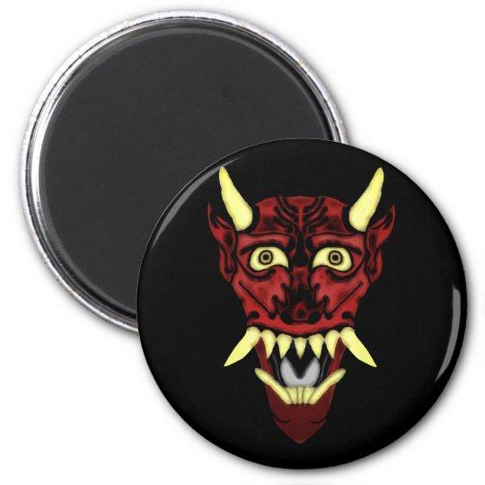 hannya demon mask magnet