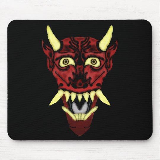 hannya demon mask mouse pad