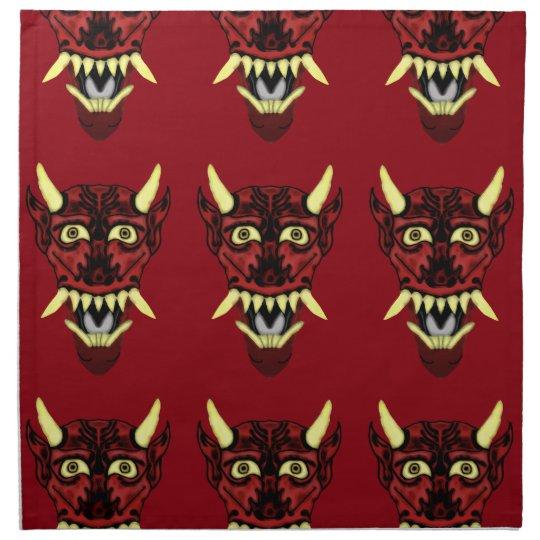 hannya demon mask napkin