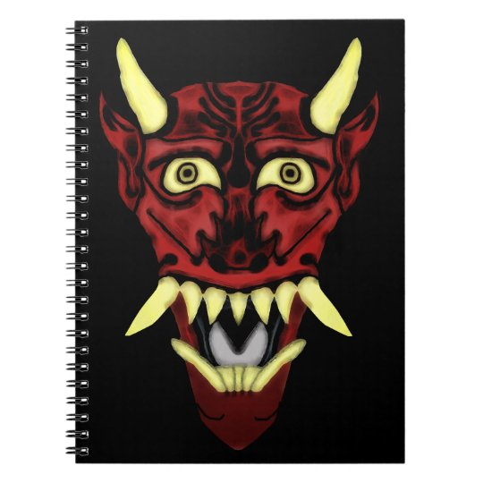 hannya demon mask notebook