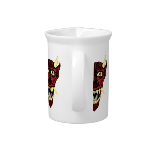 hannya demon mask pitcher