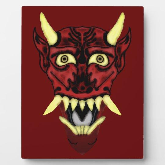 hannya demon mask plaque