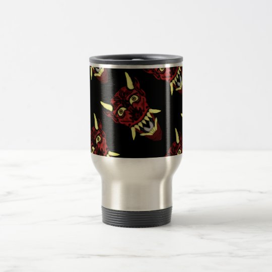hannya demon mask travel mug