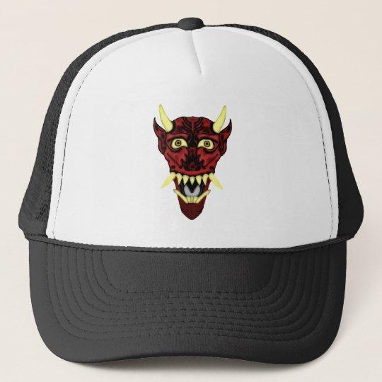 hannya demon mask trucker hat