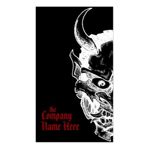 hannya mask pack of standard business cards