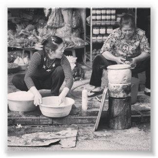 Hanoi Markets Photo Print
