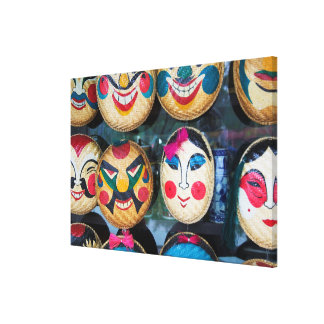 Hanoi Masks At Market Canvas Print