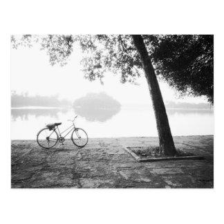 Hanoi Vietnam, Bicycle & Bay Mau Lake Lenin Park Postcard