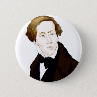 Hans Christian Andersen 6 Cm Round Badge