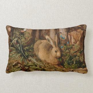 Hans Hoffmann A Hare In The Forest Lumbar Cushion
