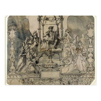 Hans Holbein - Apollo and the Muses on Parnassus Postcard