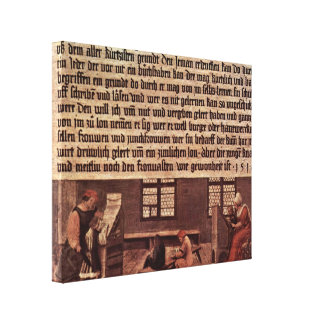 Hans Holbein the Younger - Lessons for children Stretched Canvas Print