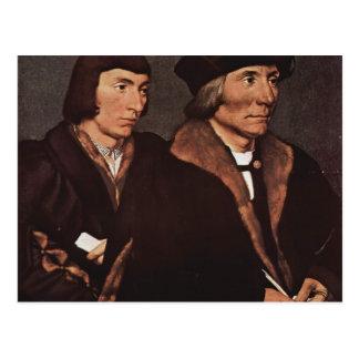Hans Holbein - Thomas Godsalve of Norwich and son Postcard