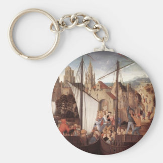 Hans Memling- St. Ursula and her companions Keychain