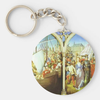 Hans Memling- The Martyrdom of St. Ursula Keychain