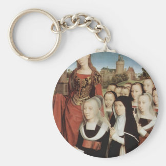 Hans Memling- Triptych of family of Willem Moreel Keychain