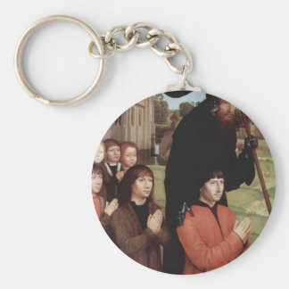 Hans Memling- Triptych of Willem Moreel, left wing Key Chains