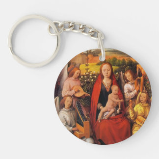Hans Memling:Virgin and Child with Musician Angels Keychain