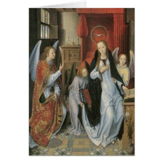 Hans Memling's Annunciation Canvas Print Card