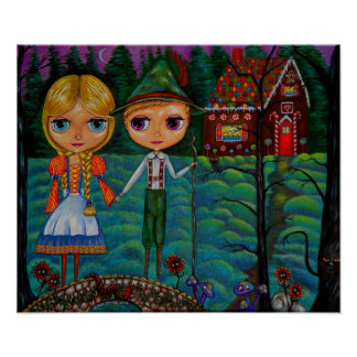 Hansel and Gretel Blythe Dolls Poster