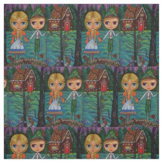 Hansel and Gretel Gingerbread House Bridge Big Eye Fabric