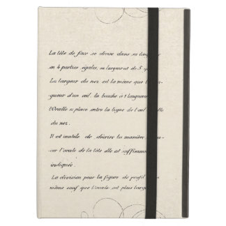 Hansome French Face Elegant Vintage Design iPad Air Covers