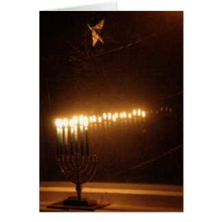 Hanukah lights card