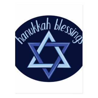 Hanukkah Blessings Postcard