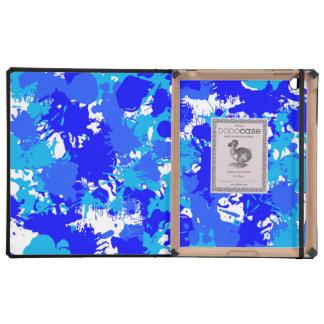 Hanukkah Blue Paint Splatter Covers For iPad
