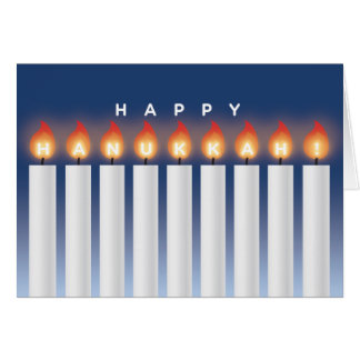 Hanukkah Card with Candles