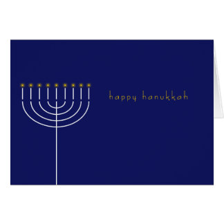 Hanukkah card with Menorah