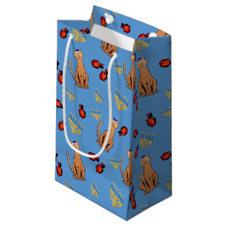 Hanukkah Cat Dreidel Blue Gift Bag