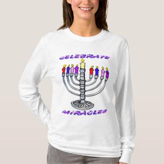 Hanukkah - Celebrate Miracles, Menorah T-Shirt