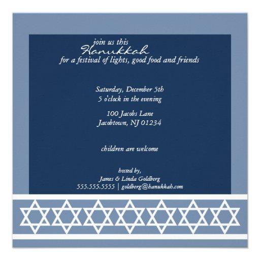 Hanukkah Celebration Party Invitations