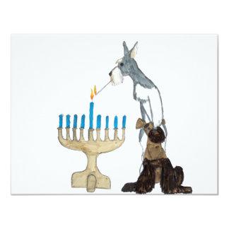 Hanukkah - Chanukah card 11 Cm X 14 Cm Invitation Card