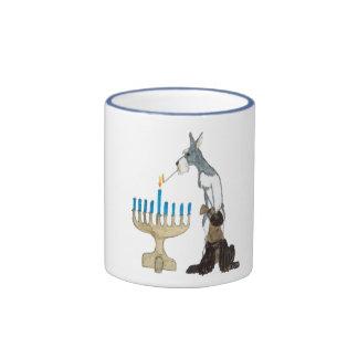 Hanukkah - Chanukah card Ringer Mug