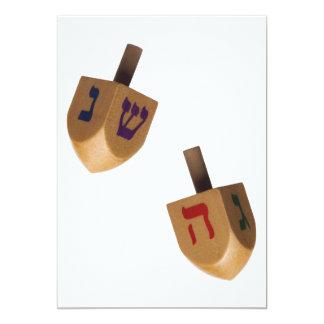 Hanukkah Chanukah Hanukah Hannukah Dreidels 13 Cm X 18 Cm Invitation Card