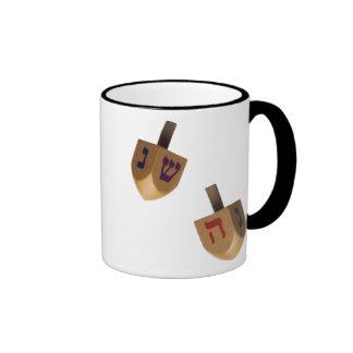 Hanukkah Chanukah Hanukah Hannukah Dreidels Ringer Coffee Mug