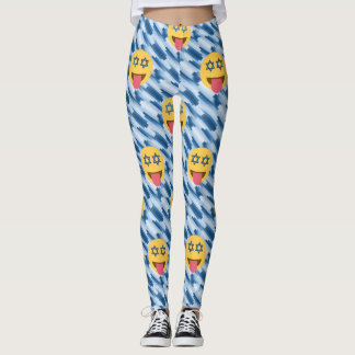 hanukkah chanukkah emoji leggings