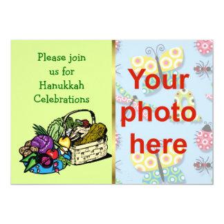 Hanukkah Chanukkah Please join us 13 Cm X 18 Cm Invitation Card