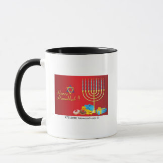 Hanukkah coffee mug to celebrate the festival